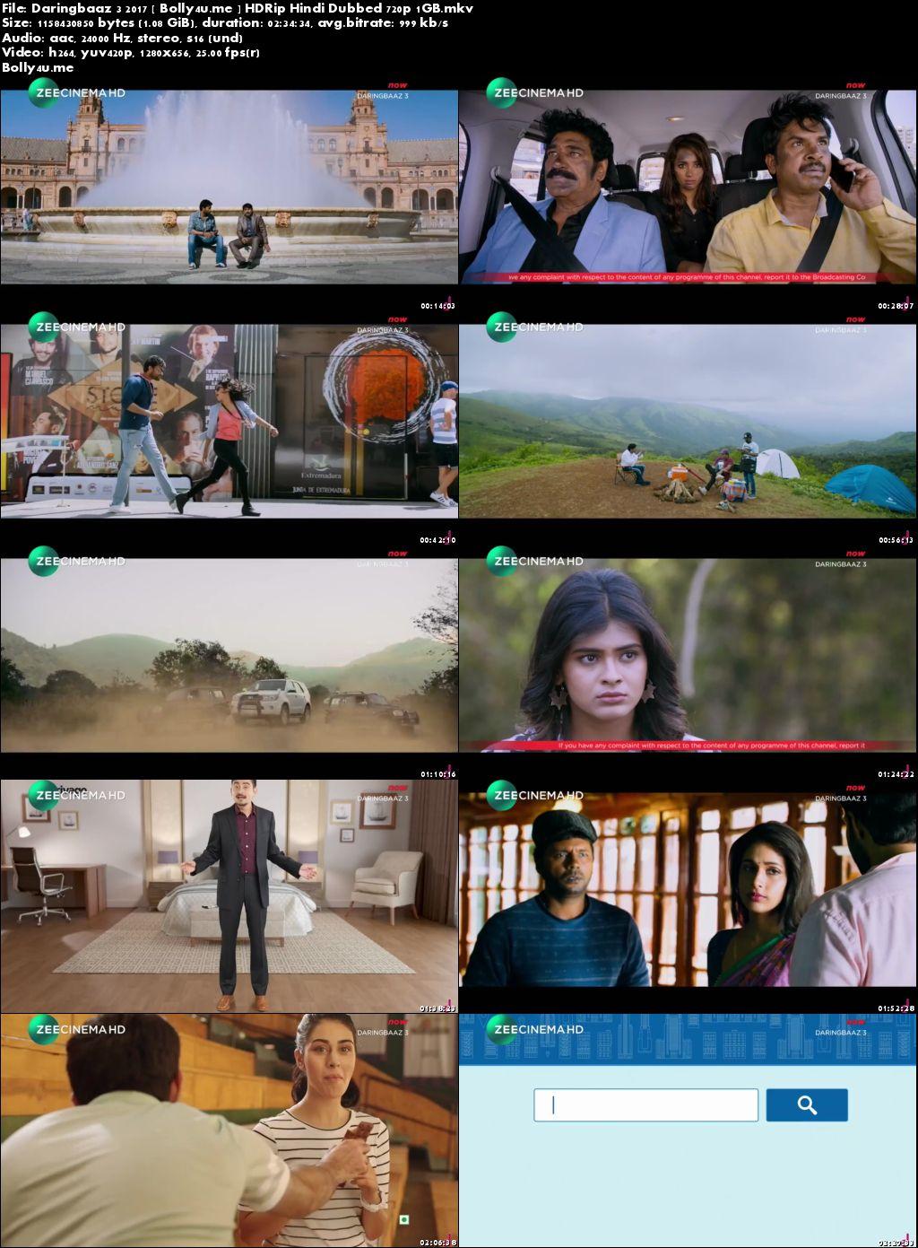 Daringbaaz 3 2017 DTHRip 450MB Hindi Dubbed 480p Download