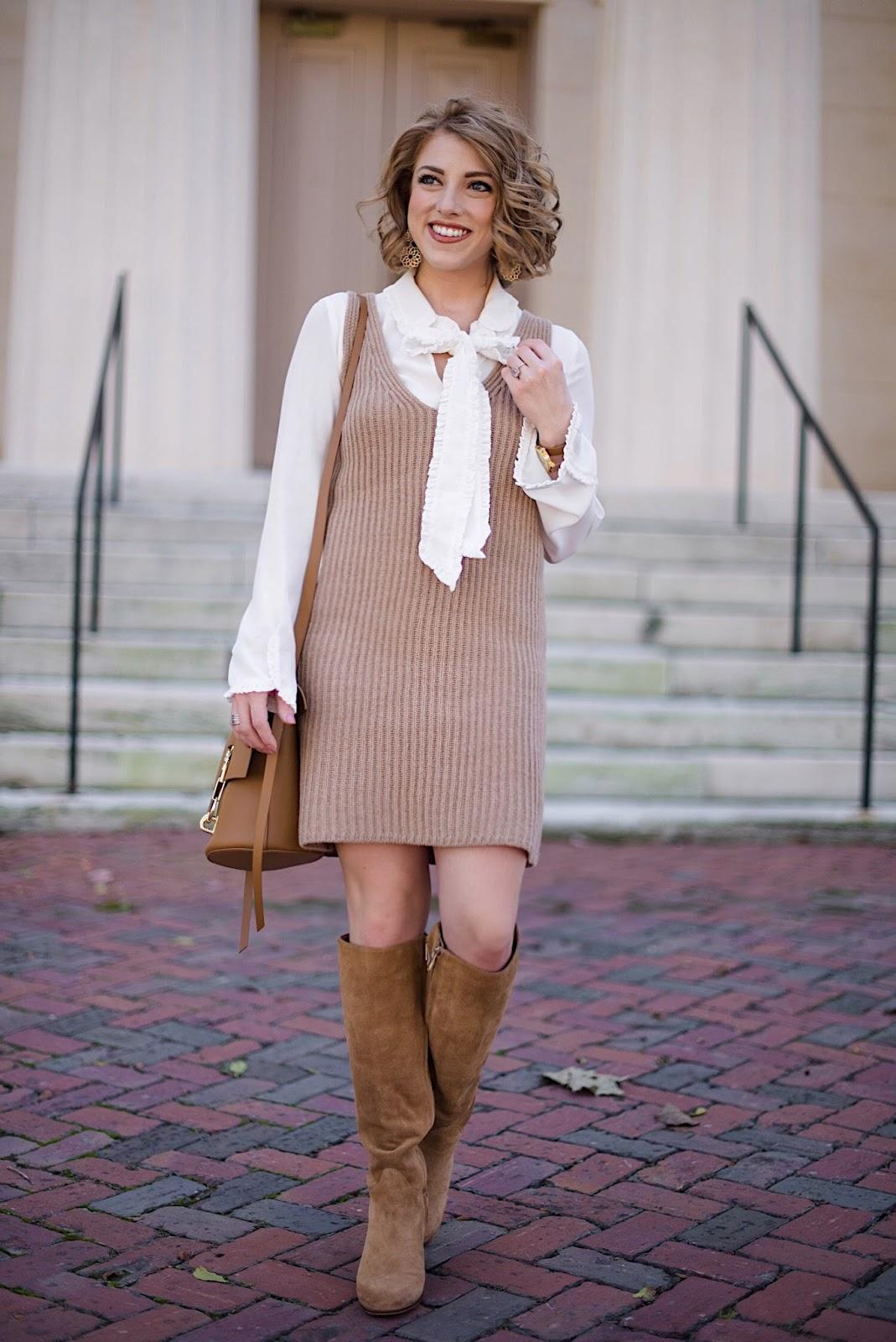 Madewell Sleeveless Sweater Dress - Fall Fashion on Something Delightful Blog