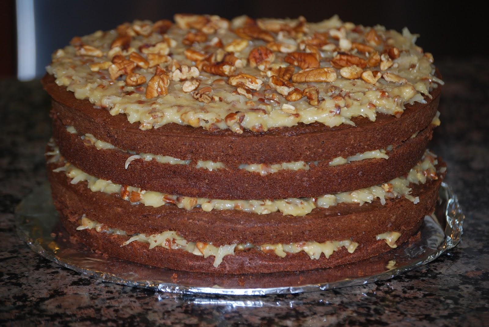Sour Cream German Chocolate Cake