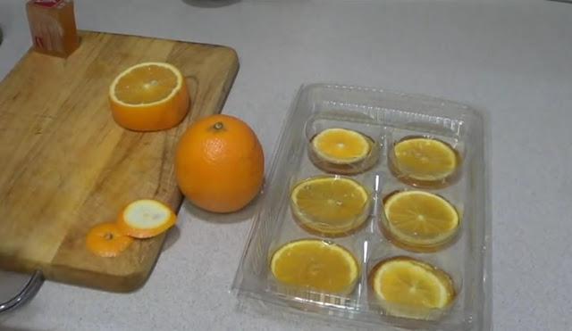 Naranjas en jabón de glicerina