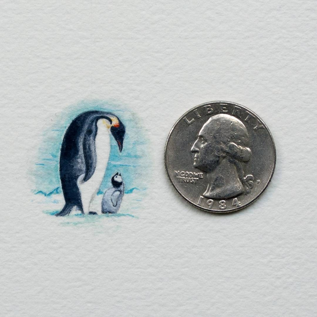 14-Penguins-Rachel-Beltz-Creative-Miniature-Paintings-www-designstack-co