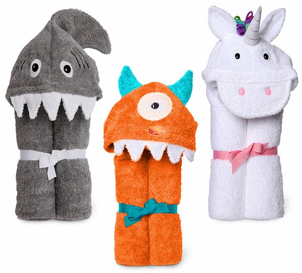 countdown to kitschmas, kitschmas, gift guide, holiday shopping, gifts for kids, thinkgeek, qvc, holiday 2013, kids' hooded towel, unicorn, monster, shark
