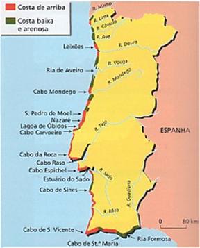 mapa de portugal cabos Lume & Ar: O mar e a costa em Portugal mapa de portugal cabos