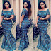 Checkout This Creative Ankara Long Gown Design