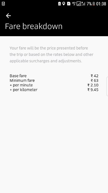 Uber in Trivandrum, Kerala, India