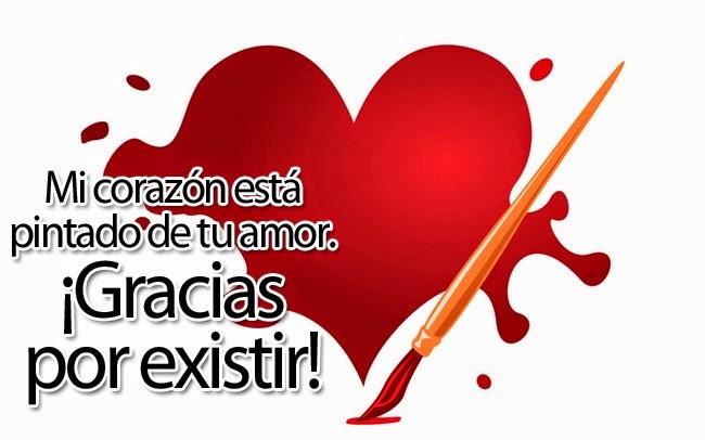 Corazon con frases bonitas de amor para dedicar