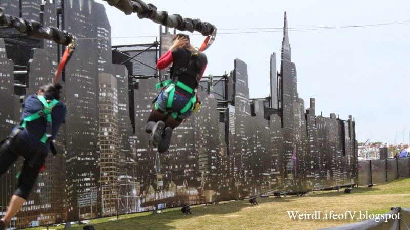 My niece and I survived the Gotham zip line Outside San Diego Comic Con 2014