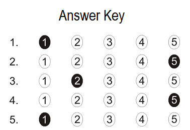table-test-answer-key