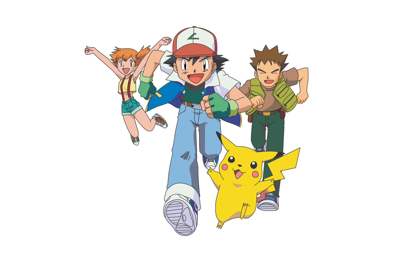 Vector Pokemon Ash and Friends - logo cdr vector