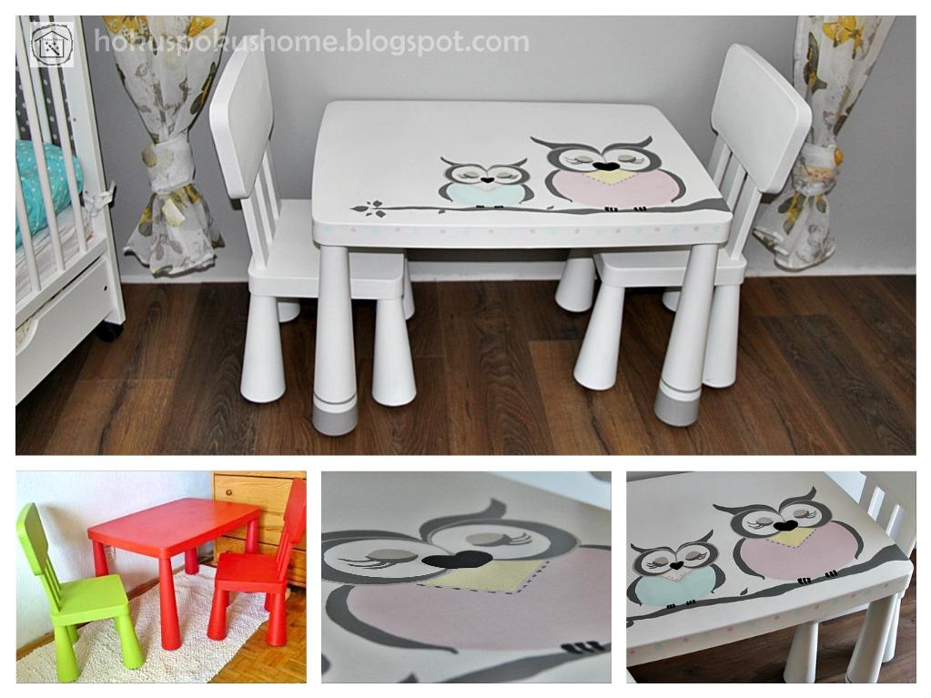 Stolik Ikea mammut farba kredowa