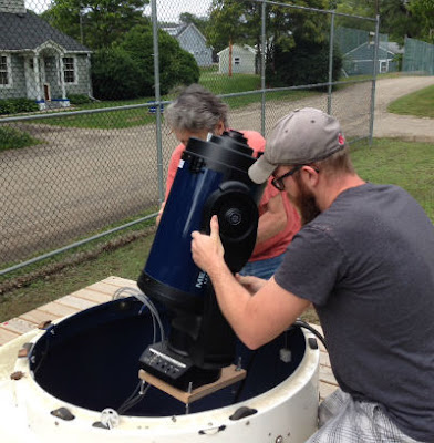 Insight Observatory staff measure for the telescope mount