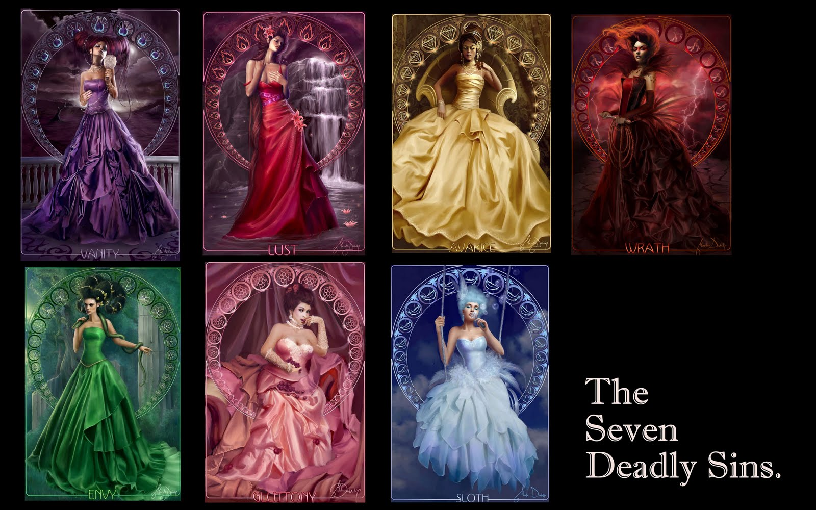 Examples List on Seven Deadly Sins