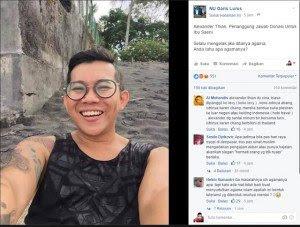 Alexander Thian, Penanggung Jawab Donasi Untuk Ibu Saeni