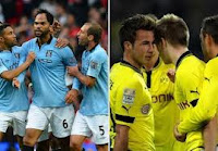 Hasil cuplikan gol video Manchester City vs Borussia Dortmund