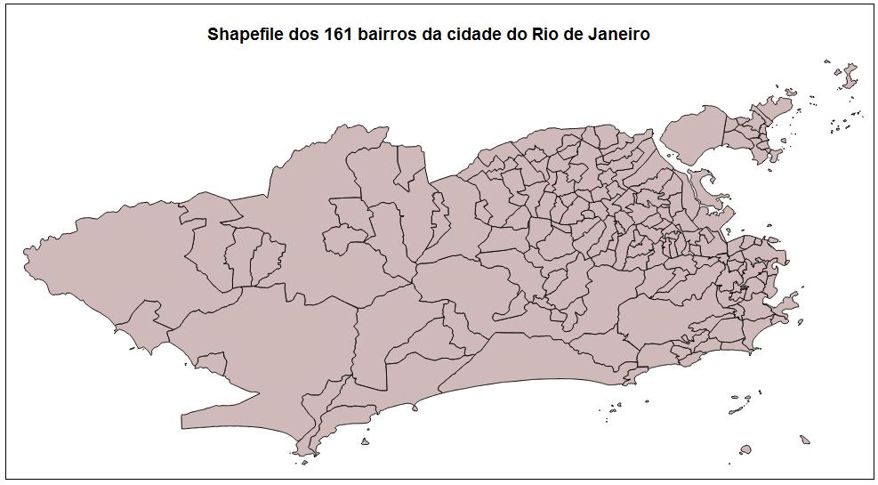 Rio De Janeiro Mapa Bairros.Geografia E Cartografia Digital Shapefiles E Kmls Dos