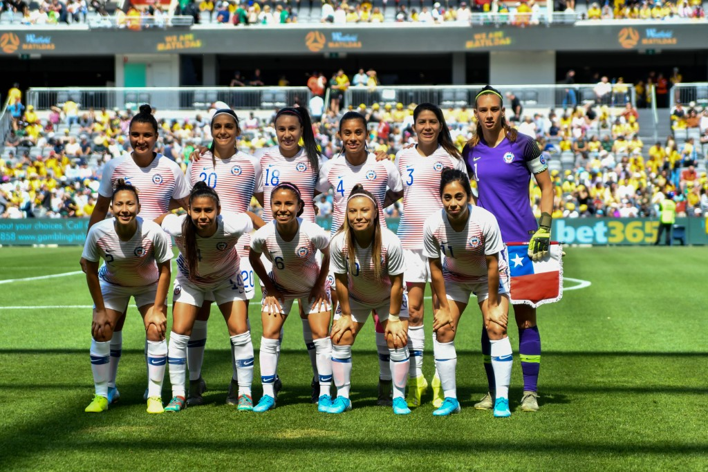 Formación de selección femenina de Chile ante Australia, amistoso disputado el 9 de noviembre de 2019
