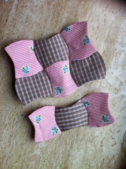 English paper piecing naaien in rijen