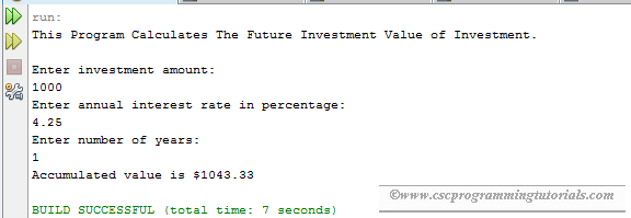 Exercise 2 21 - Financial Application: Calculate Future Investment