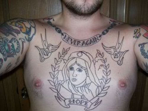 Tattoos For Men On Chest Words