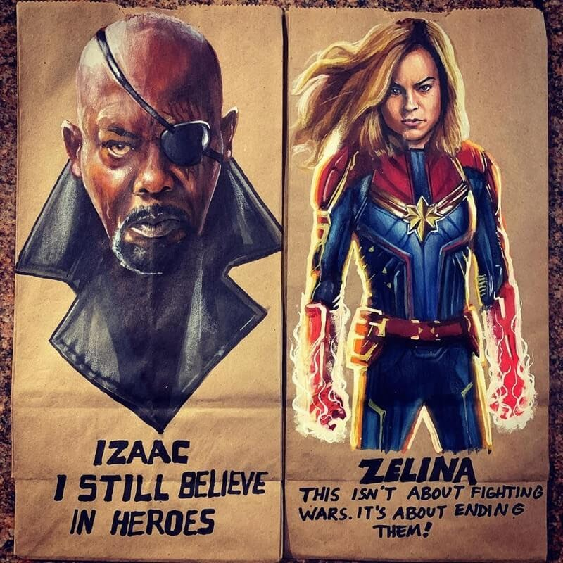 08-Nick-Fury-Captain-Marvel-L-Jinks-Brown-Bag-Art-Father-and-Drawings-for-Children-www-designstack-co