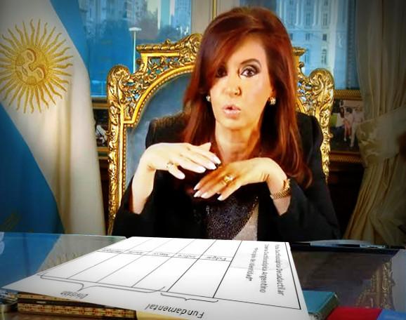 Cristina Kirchner registró sus huellas dactilares