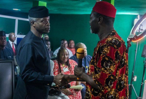 Osinbajo meets Jerry Okorodudu