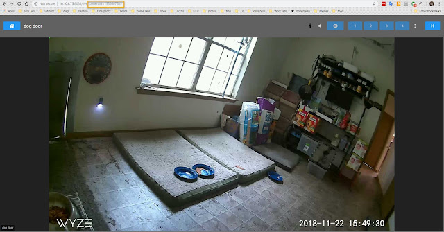 Tinycam single camera view page