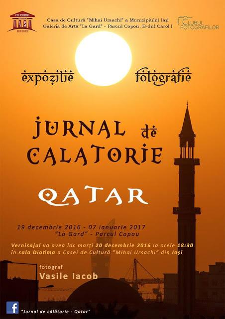 """Expoziția personală """"Jurnal de călătorie - Qatar""""- Vasile Iacob"""