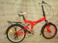 Sepeda Lipat Exotic 20-2030 Suspensi 20 Inci Red