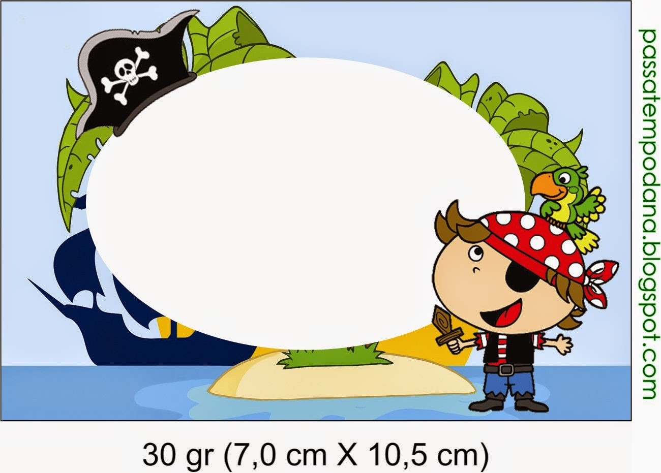 Pirate Birthday: Free Printable Candy Bar Labels.