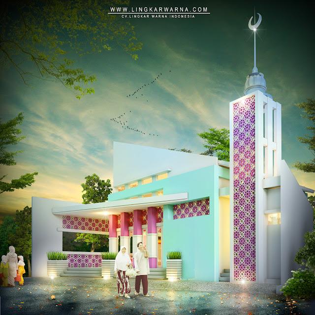 Desain masjid modern minimalis