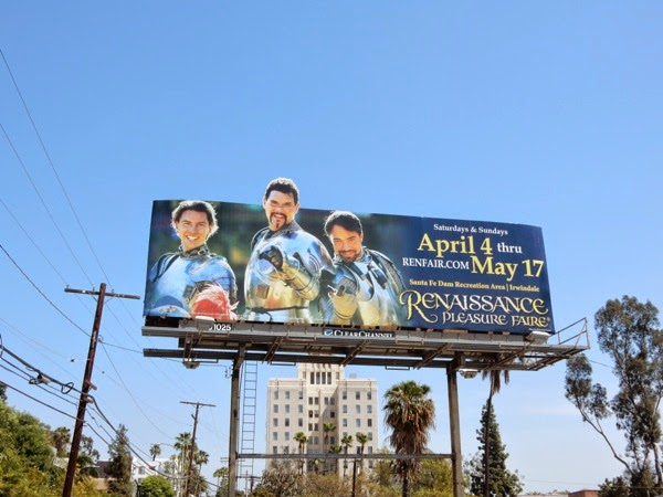 Renaissance Pleasure Faire billboard 2015