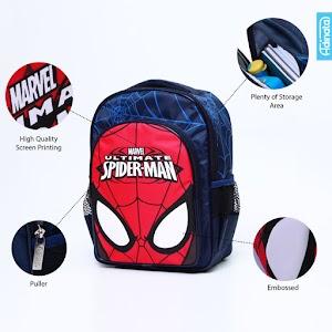 Spiderman Mask Rucksack M - Tas sekolah ransel anak