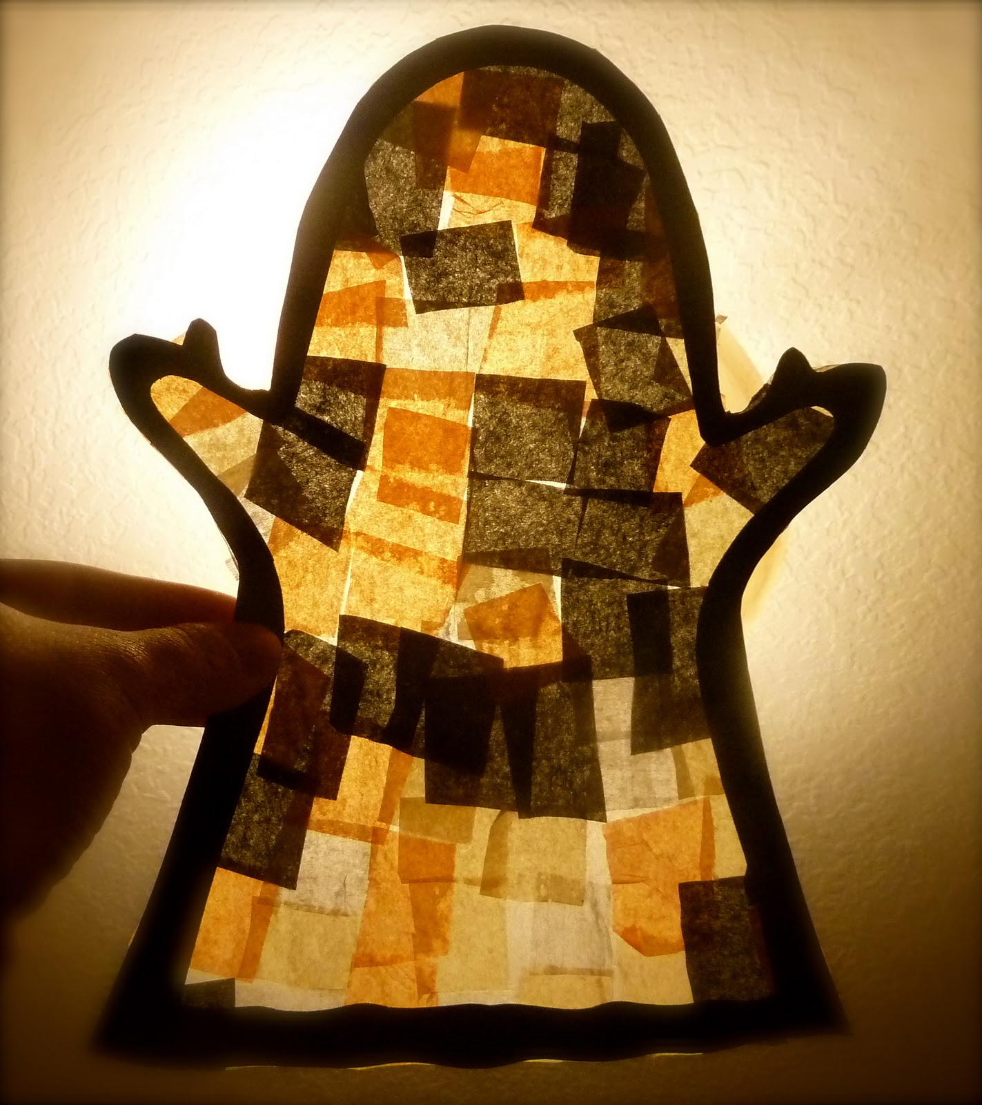 Halloween Craft Ideas For Kids 2nd Grade.Mom To 2 Posh Lil Divas Halloween Fun Faux Stain Glass Ghosts