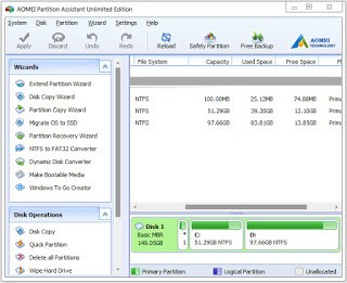 AOMEI Partition Assistant 7.1 All Editions Multilingual Full Keygen