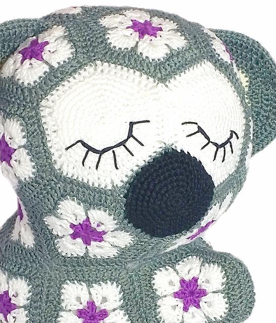 Lily the african flower koala Crochet pattern
