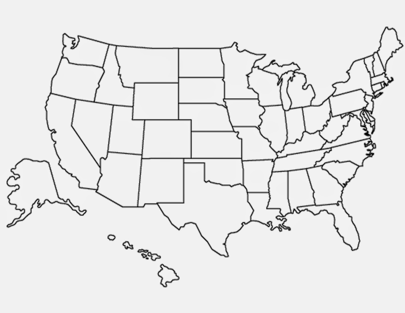 Blank Empty Map Of Us I 76 Map - Fillable-map-of-us