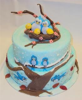kue ulang tahun burung lucu