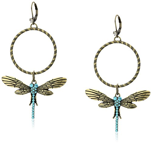Betsey Johnson dragonfly earrings