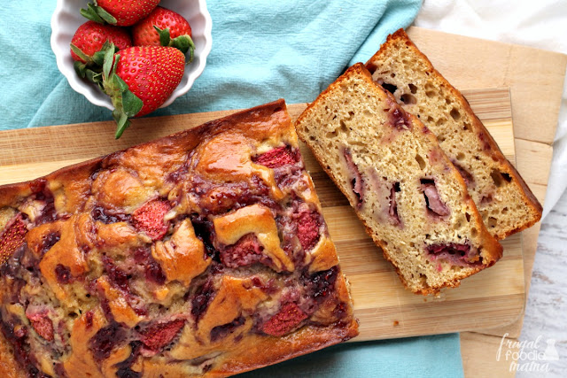 Inspired by the classic flavors of a PB&J, this Strawberry Peanut Butter Banana Bread is sure to quickly become a family favorite.