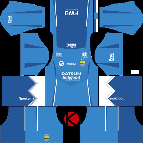 Persib Bandung Kits 2016/2017 - Dream League Soccer