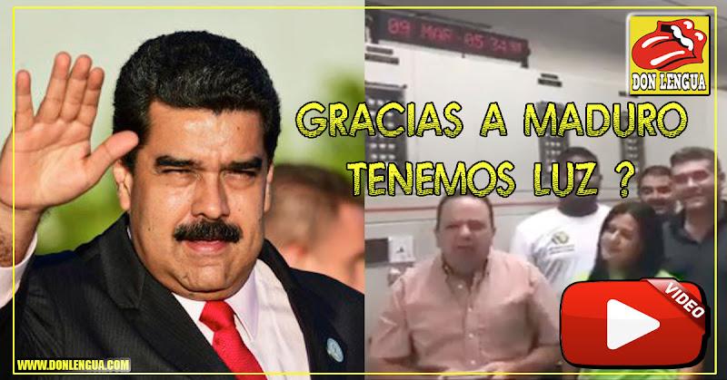 Gobernador de Aragua dice que Gracias a Maduro en Aragua hay electricidad - GRACIAS DICTADOR!