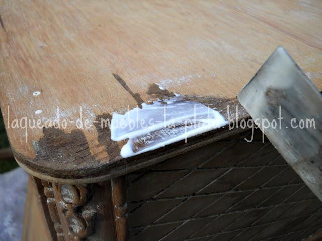Restaurar enchapado madera