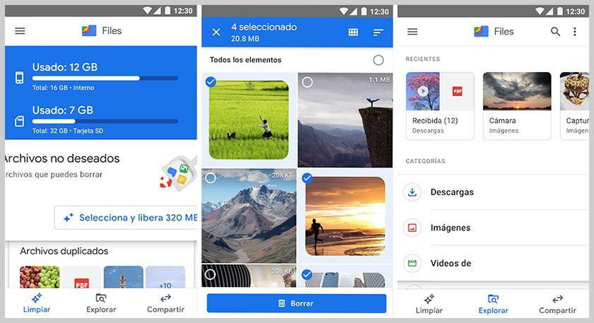 mejores aplicaciones android files de google