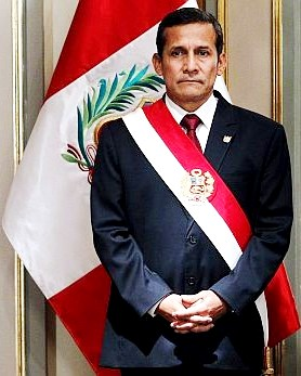 Imagen de Ollanta Humala como presidente del Perú
