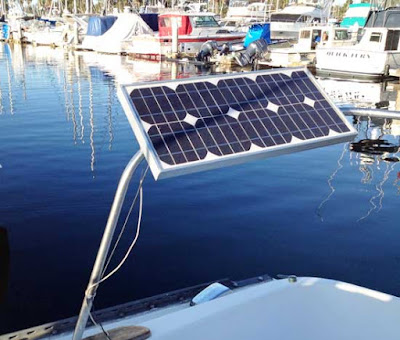 installing a solar panel on a boat