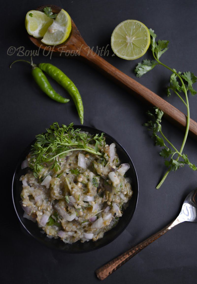 Smoked Brinjal Chutney Recipe | How to make Baingan ka Chokha