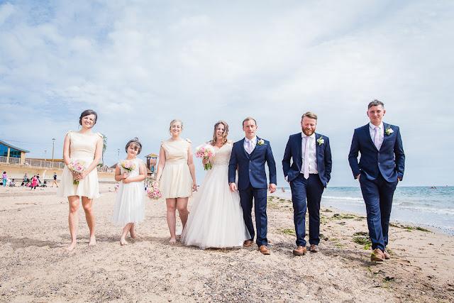 exmouth wedding, devon wedding, exmouth beach wedding