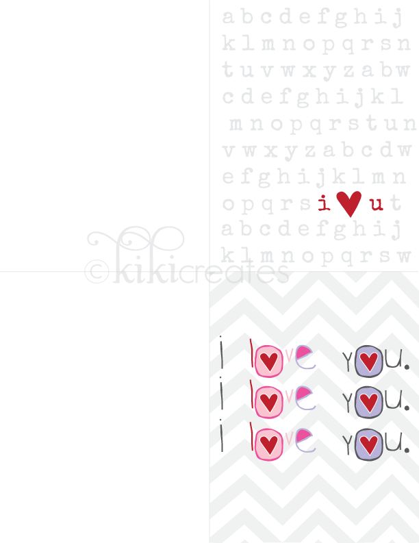 kiki creates: I Love You cards {Free Download}
