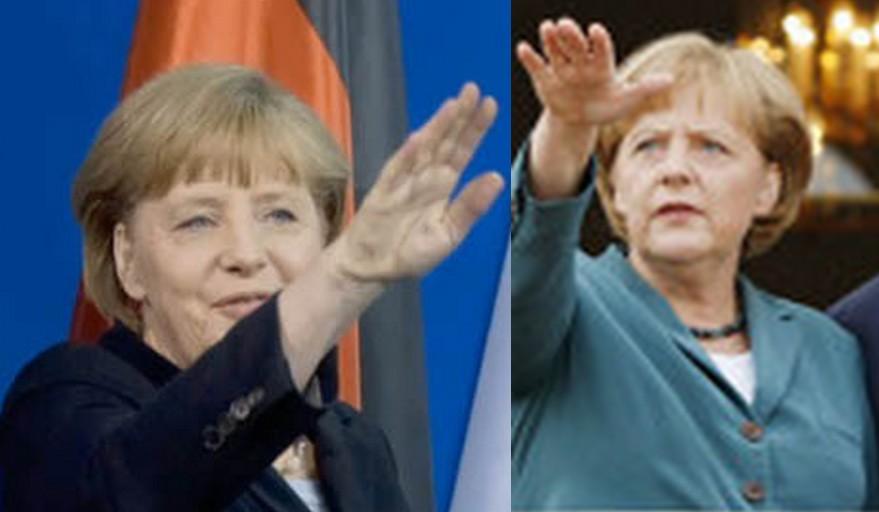 Merkel Hitlergruß